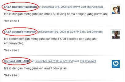 ID Palsu dari email yang dikenal
