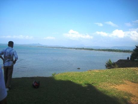 Pemandangan di atas Pantai Gua Cot Reuleng