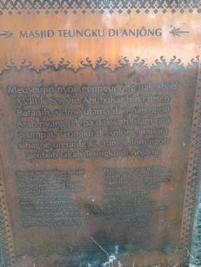 Petunjuk sejarah berdirinya Mesjid Tgk. Dianjong