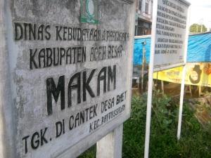 Makam Tgk Di Cantek Desa Baet, Kecamatan Baitussalam - Aceh Besar