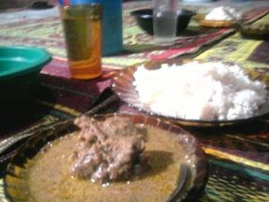 Jadi beginilah hidangan sederhana ala bebek kuntilanak desan Turam