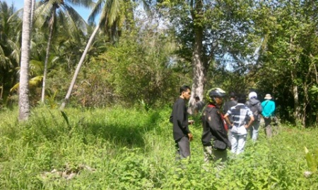 Ekspedisi dimulai, mencari rawa, alu dan tambak sekitar kampung Samuti Rayeuk