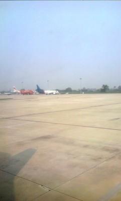 Kondisi area landasan sekitar Bandara Kualanamu