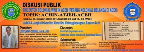 "Diskusi publik ""Perang Kolonial Belanda di Aceh"""