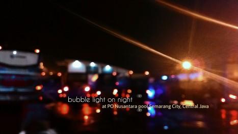 Foto malam hari di jalan Siliwangi, Jawa Tengah